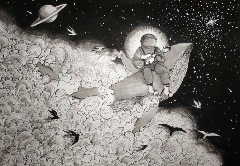 """""""Космічна феєрія"""" Ангеліна Джувага, 16 років, Зіньківська дитяча художня студія """"DaVinci"""" номінація - """"художники - діти"""""""