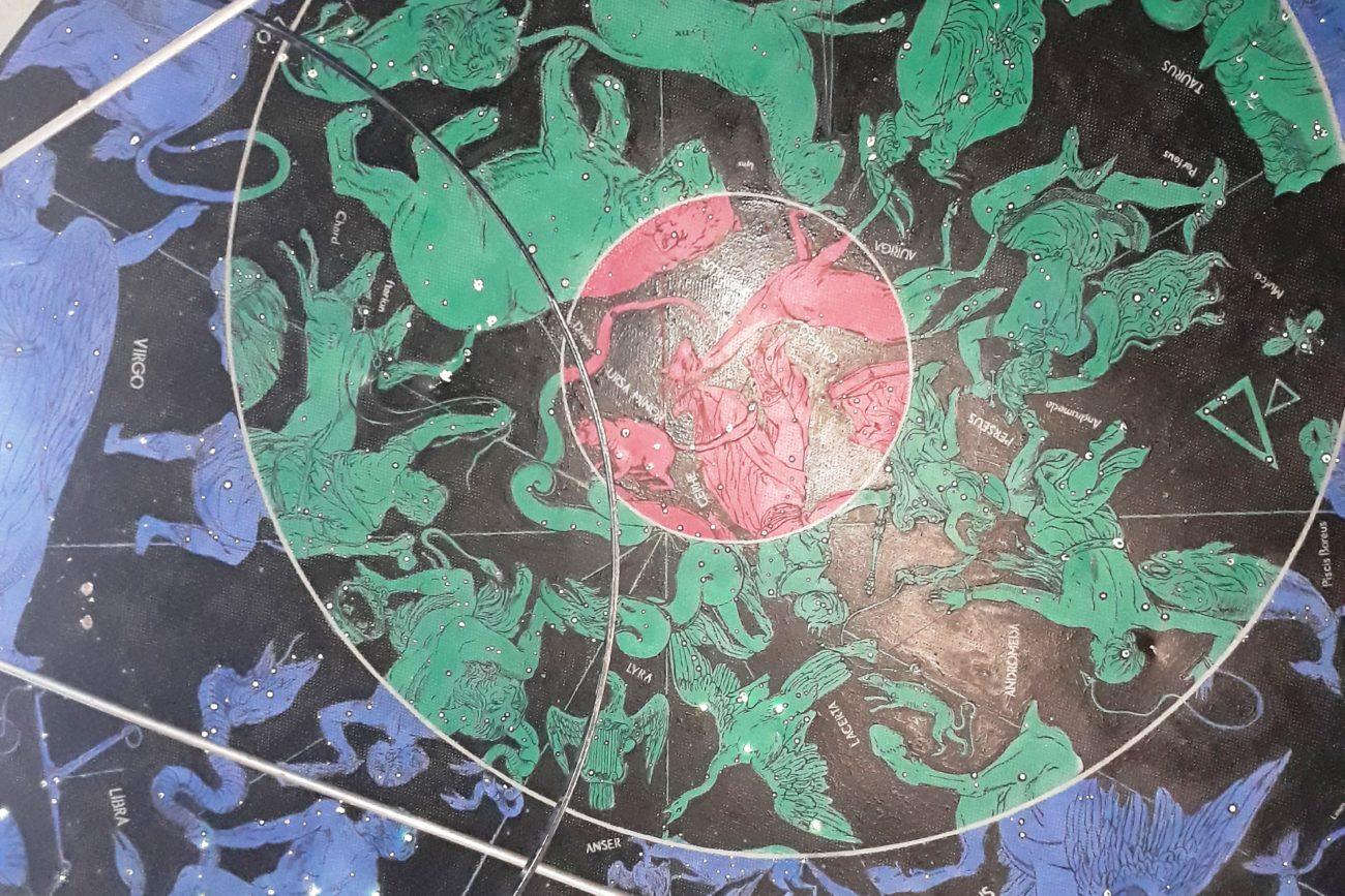 Фрагмент атласу зоряного неба відомого польського астронома Яна Гевелія