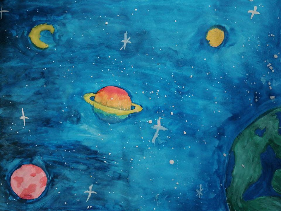 """«В пошуках нового життя» Кулібаба Аделіна, 13років, дитяча художня студія «Da Vinci». номінація - """"симпатії - відвідувачів"""" 25 голосів!"""
